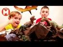 Игрушки динозавры для детей ЧЕЛЛЕНДЖ РАСКОПКИ ДИНОЗАВРОВ В ЖЕЛЕ Видео про диноз...