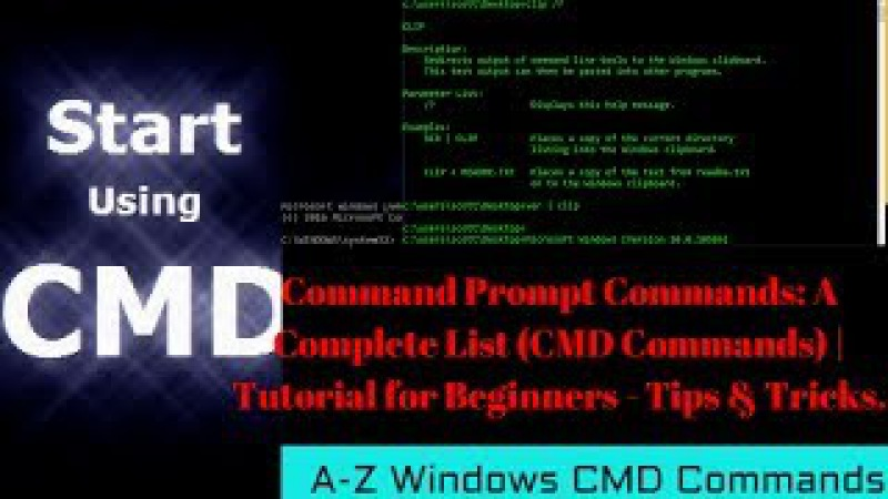 Command Prompt Commands: A Complete List (CMD Commands) | Tutorial for Beginners - Tips Tricks.