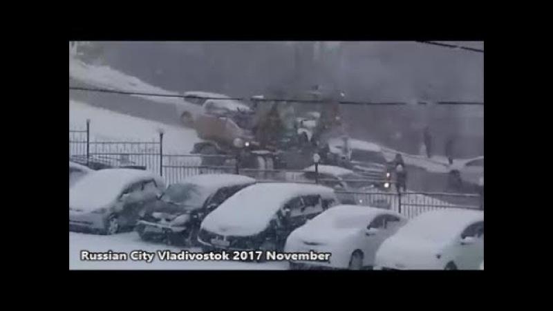 Russian City Vladivostok 2017 || Free Wheel || Drivers Fail To Descent Slope.