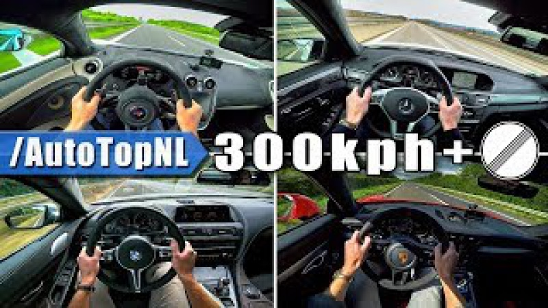 AUTOBAHN POV 300 km/h ACCELERATION TOP SPEED Compilation by AutoTopNL
