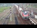 Электровоз ЭП20-035 с поездом№741В Москва-Брянск станция Бекасово-1 9.08.2017