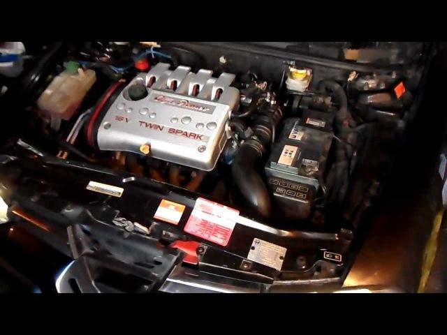 Запуск мотора после ремонта ГБЦ Alfa Romeo 156 2,0TS AR32301 SuperSprint