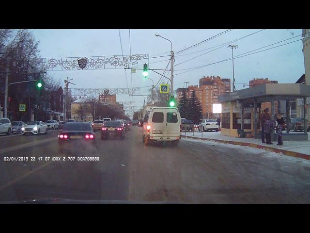В Уфе в ДТП столкнулись две иномарки