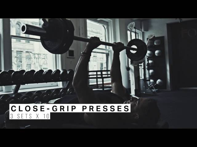Beginner's Chest and Triceps Workout for Building Muscle