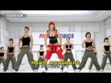 Aerobic and walking exercise with subtitle