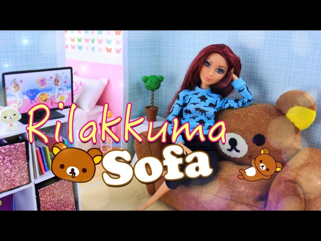 DIY - How to Make: Gudetama Rilakkuma Sofa   Kawaii Dollhouse Furniture