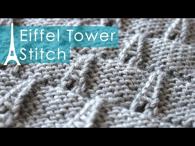 EIFFEL TOWER Eyelet Knit Stitch Pattern