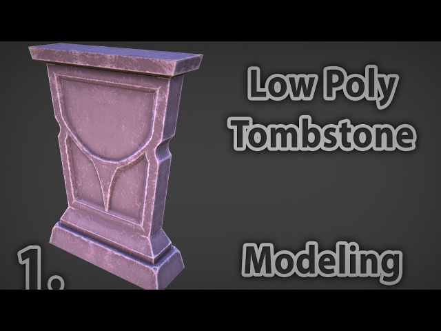Tombstone Low Poly Modeling 1. | 3d tutorial | 3dsmax