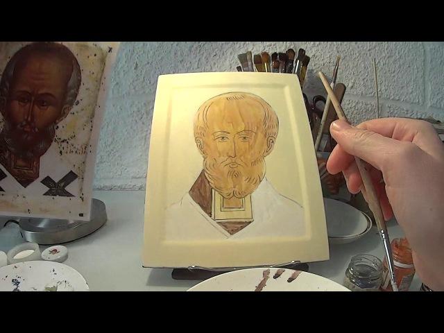 Первый этап роскрыши Лекция 6 Святитель Николай Мастер классы по иконописи