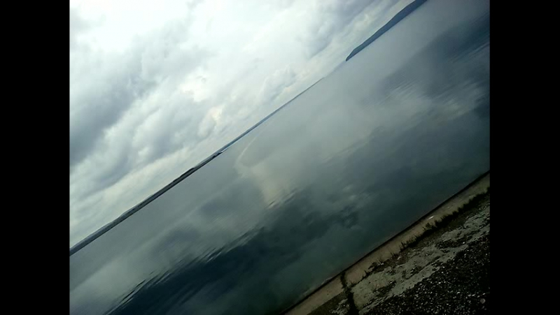 полоса по Ангаре,меж островов,