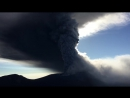 Извержение вулкана Симмоэ в Японии.