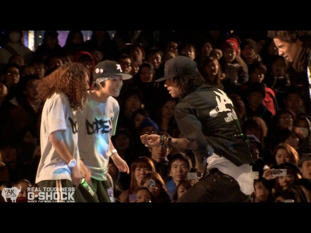 Les Twins vs Rush Ball G SHOCK REAL TOUGHNESS Japan 2012 YAK FILMS