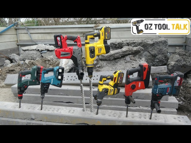 PREMIUM Battery SDS Hammer Drill Shoot-out - Dewalt, Bosch, Makita, Metabo, Milwaukee, Hilti