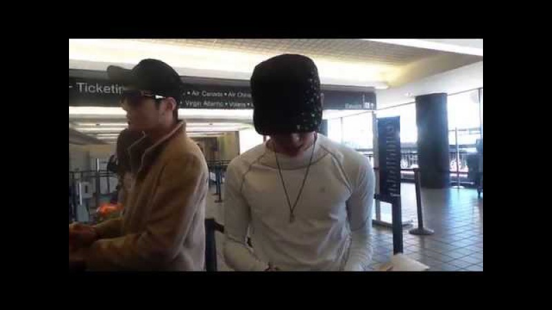 141029 Infinite Dongwoo Myungsoo at LAX airport