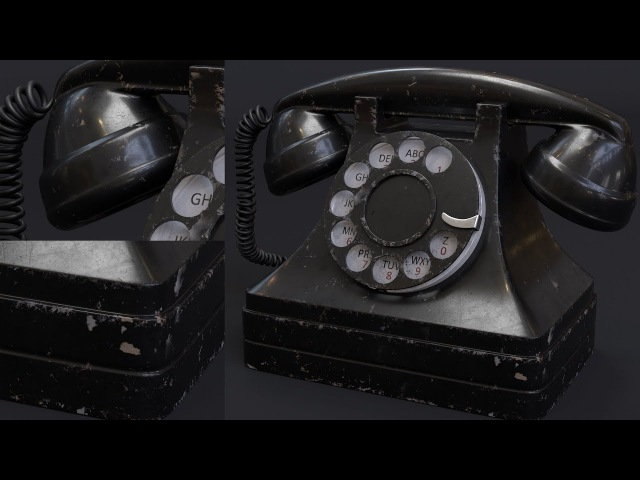 Tutorial No.68 : Creating a realistic Vintage Rotary Telephone shader in Arnold 5 for Cinema 4d