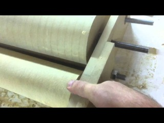 Wooden Tool Man's DIY Drum Sander 6 Spring loading the rollers