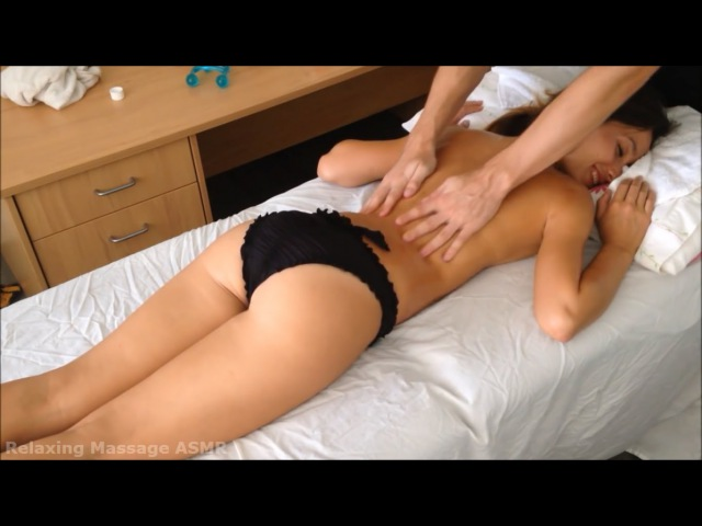 Pretty Girl Back Massage Therapy - Relaxing Massage ASMR