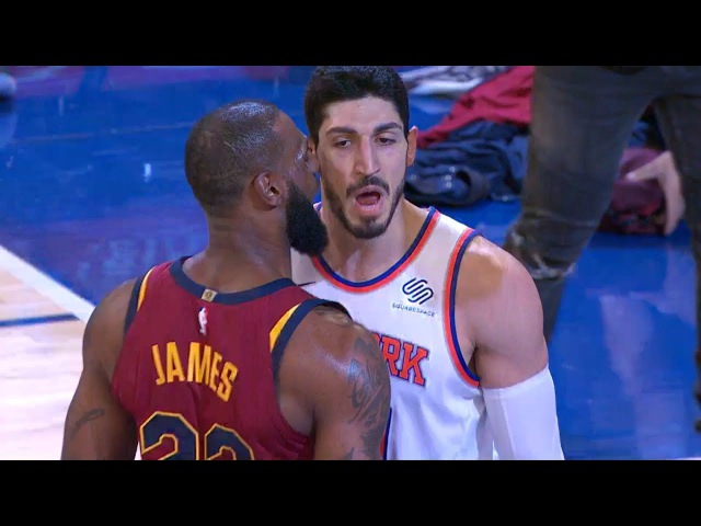 LeBron Enes Kanter Exchange Words | Cavaliers vs Knicks | November 13, 2017 | 2017-18 NBA Season