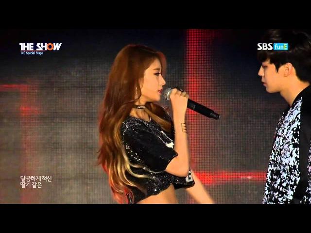 Jiyeon, Zhoumi, Hongbin - My Ear's Candy 150811 SBS funE The Show