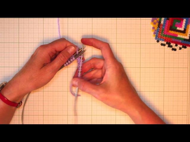 Набор петель для резинки 1 х 1 волшебным способом