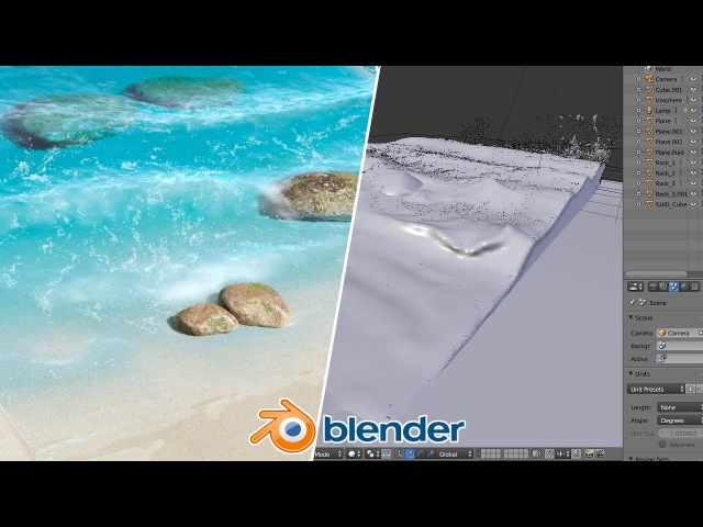 Beach Waves - Blender Fluid Tutorial : 1 of 2
