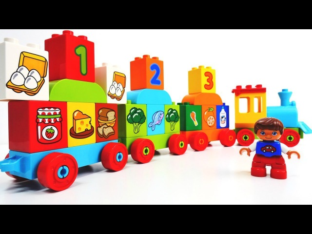 Juegos de Lego para niños: el tren de la dieta saludable.