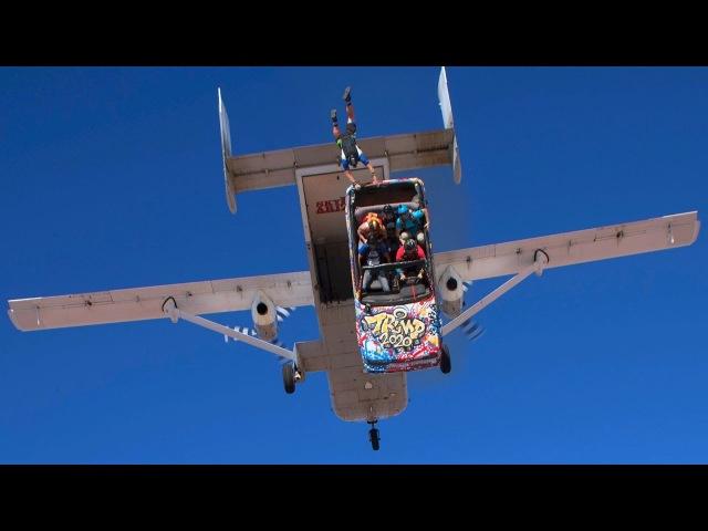 Что будет, если сбросить машину с самолета Чтобы по, скайдайверы прыгнули вместе с ней. Улетное ВИДЕО!