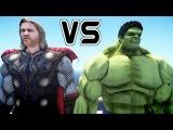 SUPERHEROES CARTOON Incredible Hulk Vs Super Thor Epic Battle Video for Kids