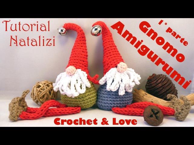 Gnomo Amigurumi e Cordoncino ad uncinetto (1°parte) (sub. Eng. y Esp.) - Tutorial Natale