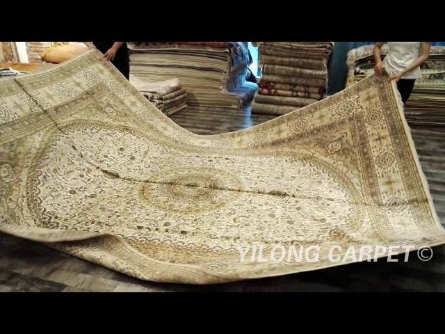 Modern Carpet Silk Oriental Persian Rug