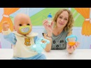 Nicoles Grüne Box - Wir sorgen für unsere Puppe - Spielzeugvideo für Kinder