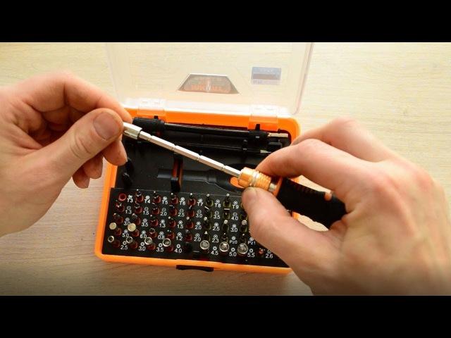 Отвертка с набором бит 53 in 1 с алиэкспресс для точечных работ Jakemy JM 8127