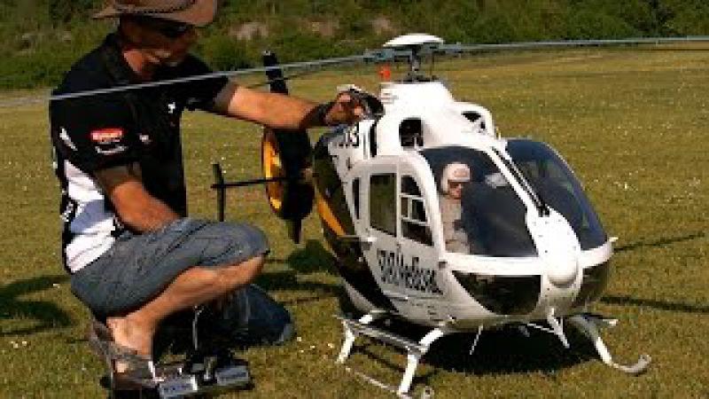 EC 135 GIGANTIC SCALE RC ELECTRIC MODEL HELICOPTER FLIGHT DEMO Teampilot Vario Francis Paduwat