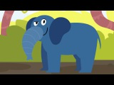 Learn animals - Otto's walk - Tiger Monkey Elephant - Funny Animals | Cartoons For Toddlers