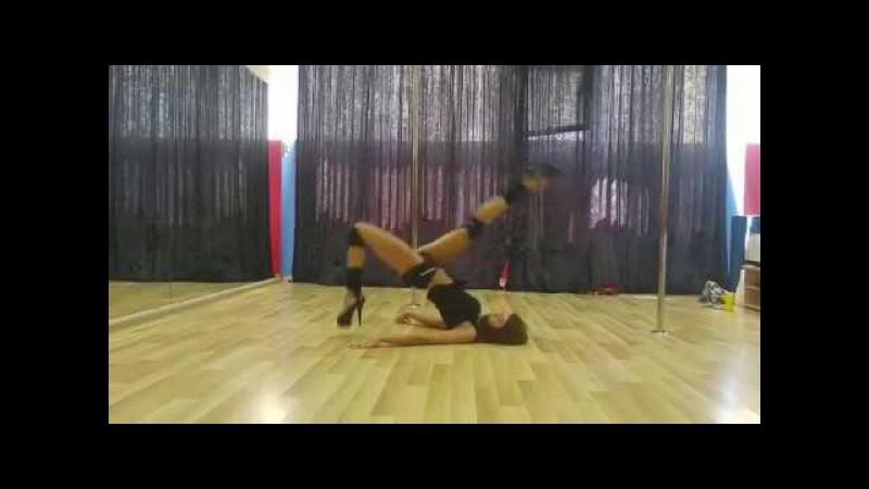 Видео-урок: усложненный кувырок (Марина Эргле) pole-dance, стрип-пластика