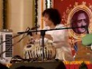 Ustad Zakir Hussain in a good mood. Glimpse from the concert Tribute to Acharya Jiyalal Vasant