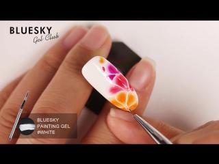 Растекающийся гель-лак flower gel nail art (bluesky)