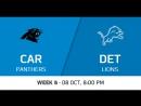 NFL 2017-2018 / Week 05 / Carolina Panthers - Detroit Lions / Condensed Games / Сжатые игры / EN
