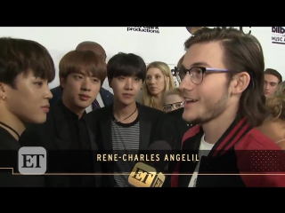 Rene-Charles Angelil, Celine Dion's son, who expressed he likes BTS