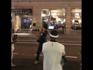 Sticky Fingaz & Cassidy on the set of new video Made Me This Way @ Times Square, Manhattan, NY [September 17, 2017]