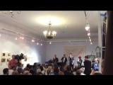 Брусникинцы разыгрывают сценки на тексты Пригова. ГЛМ, дом Остроухова