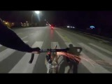 Angry Cyclist Firing Fireworks to Downed Scooter  GTA San Andreas Real Life