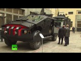 FSB Batmobile Putin inspects Security Service special op vehicles