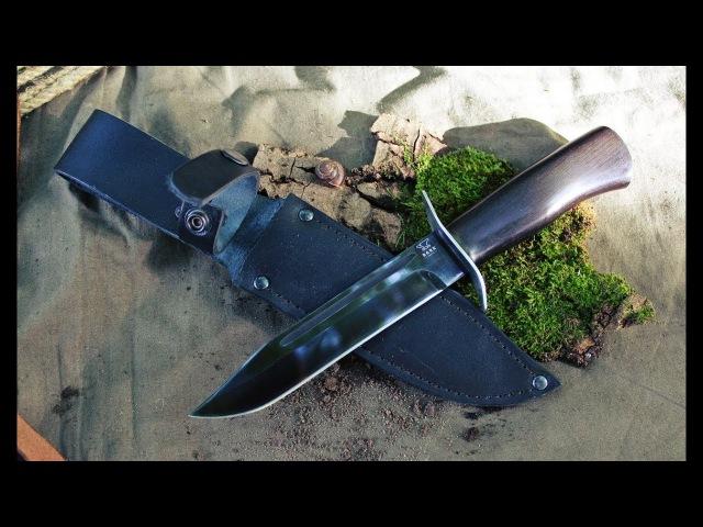Нож Разведчика или НР40 рубит гвозди и алюминий КрашТест неубиваемый нож НР 40