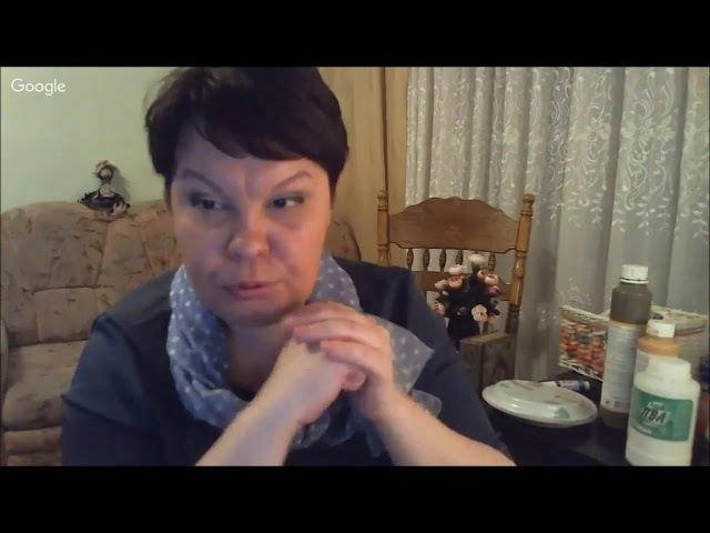 Использование 2х шагового кракелюра Creall Crackle для имитации фрески Университет Декупажа Людмила