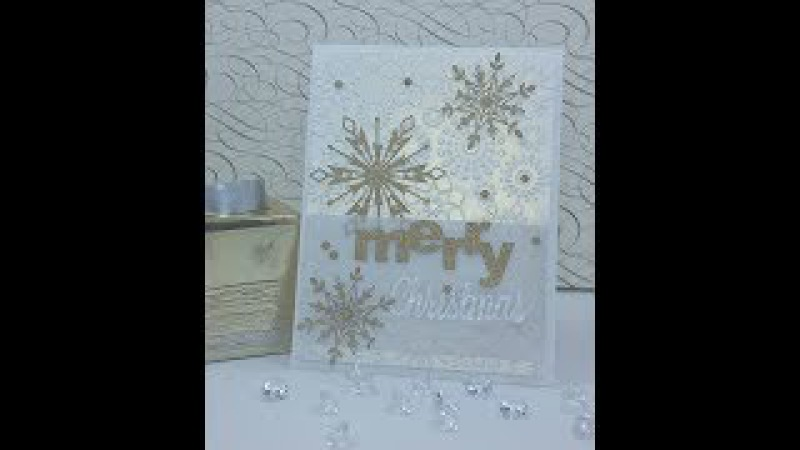 2017 Xmas in July 2 Merry Christmas Snowflakes Card