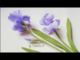 DIY- How to make Iris flowers from crepe paper II - Hoa diên vỹ giấy nhún
