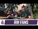 The Real Madrid players meet fans in Los Angeles!