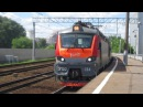 Электровоз ЭП20-054 с поездом РИЦ№102М Москва-Адлер платформа Электрозаводская 20.06 .