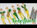 РИСУЕМ ЭСКИЗЫ ОДЕЖДЫ, вдохновение фруктами Speedpaint, fashion illustration
